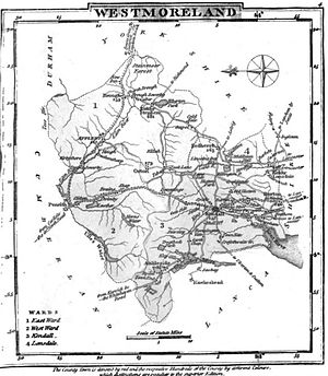Westmorland - Map of Westmorland, 1824
