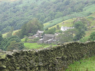 Kentmere farm village in the United Kingdom