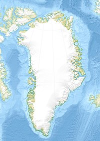 Location map Greenland is located in Greenland