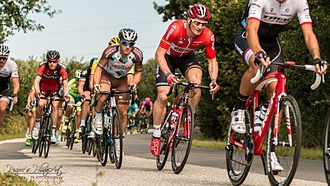 EuroEyes Cyclassics - André Greipel (in red) during the 2015 Vattenfall Cyclassics.