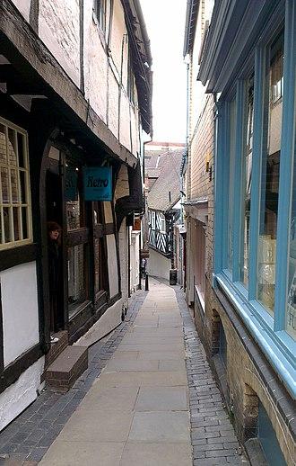 Gropecunt Lane - Grope Lane in Shrewsbury