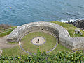 Gun emplacement at St Catherine's Castle.jpg
