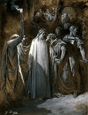 "Kiss of Judas - Image: Gustave Doré Study for ""The Judas Kiss"" Walters 371387"