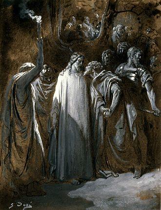 "Kiss of Judas - Image: Gustave Doré Study for ""The Judas Kiss"" Walters 371387"