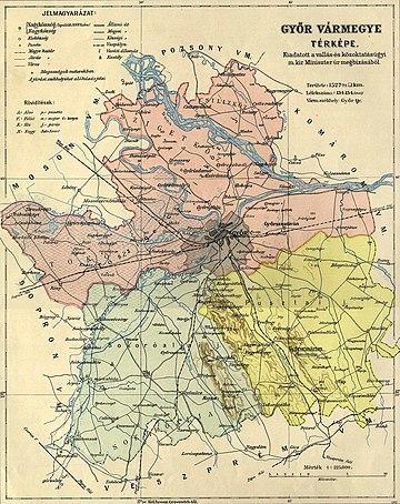győr domborzati térkép Győr vármegye – Wikipédia győr domborzati térkép