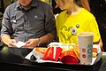 HK CWB Yee Wo Street 麥當勞大廈 McDonald's Building shop Restaurant counter service staff at work uniform tee-shirt yellow Sept 2018 IX2.jpg