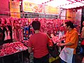 HK Ngau Tau Kok Road sidewalk shop pork meal Butcher seller Nov-2015 DSC.JPG