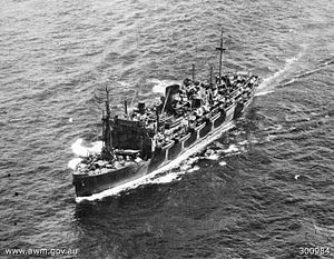 HMAS Manoora after conversion to a LSI