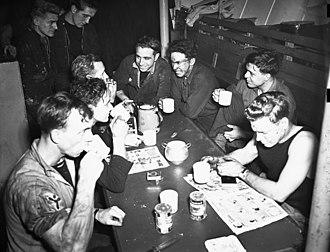 Mess - Image: HMCS Kamsack Stokers Mess Feb 1943