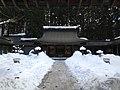 Haiden of Minashi Shrine (Hida-Ichinomiya) in a snow day.JPG