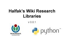 Halfak's wiki research libraries - WMF R&D showcase (Jul. 2014).pdf