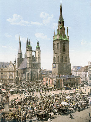 Halle (Saale) - Halle about 1900