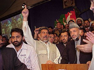 Loya jirga - Hamid Karzai appointed as President of the Afghan Transitional Administration at the 13 July 2002 Loya Jirga held in Kabul, Afghanistan.