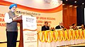 Hardeep Singh Puri delivering the keynote address at the National Consultation on Accelerating Implementation of Urban Missions – PMAY (Urban) and SBM(U), in New Delhi.jpg