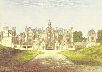 Harlaxton Manor - Harlaxton Manor in 1880