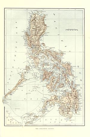 Philippine Revolution - Map of the Philippines at the end of the 19th century.