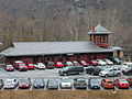 Harpers Ferry RR Station building and parking lot.jpg