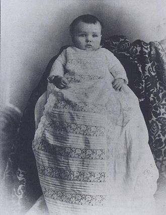 Harry Neal Baum - Four-month-old Harry Neal Baum in 1890
