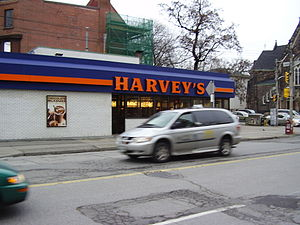 Harvey's restaurant at Gerrard and Jarvis, Tor...
