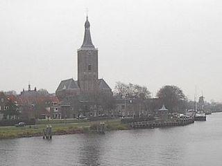 Zwarte Water river in the Dutch province of Overijssel