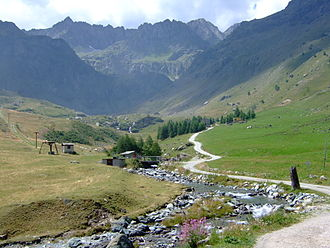 Po Valley - Po near source in the western Alps