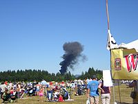 Image:Hawker Hunter Hillsboro Air Show Crash2.JPG