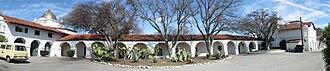 The Hacienda (Milpitas Ranchhouse) - Image: Hearst Rancho westside pano