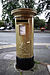 Heather Frederiksen's gold postbox in Leigh, Greater Manchester.jpg