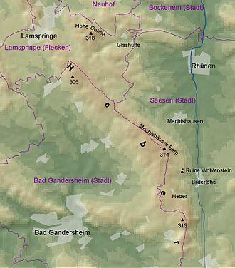 Heber (hills) - Overview map of the Heber