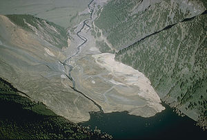Quake Lake - Landslide at Quake Lake U.S. Geological Survey