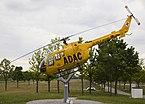Helicóptero de salvamiento Bölkow Bo 105 de ADAC 'Christoph 1', Parque de visitantes, Aeropuerto de Múnich, Alemania, 2012-05-27, DD 01.JPG