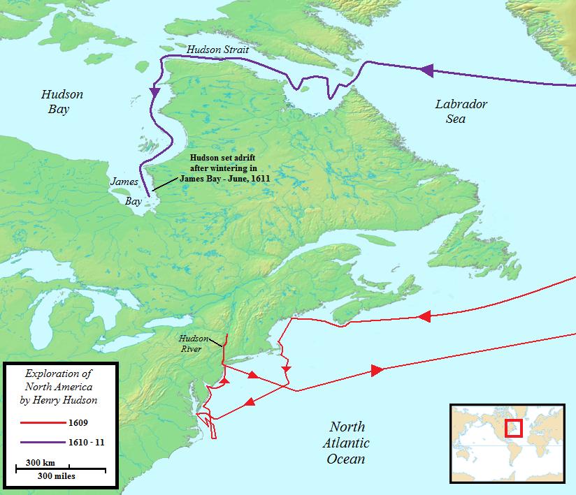 Henry Hudson Map 26