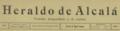 Heraldo de Alcalá (20-08-1907) cabecera.png