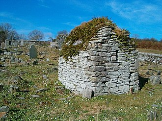 Monastic cell - Hermit's cell near Moville high cross, Ireland.