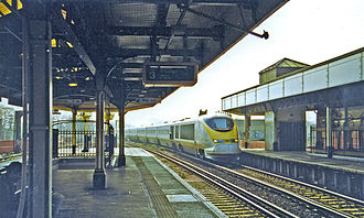 Herne Hill railway station - A Eurostar train passing through Herne Hill in March 2000