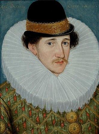 Edward Talbot, 8th Earl of Shrewsbury - Edward Talbot, later 8th Earl of Shrewsbury, in 1586 aged 25, by Hieronimo Custodis.