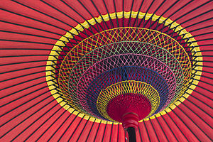 Umbrella - Close-up of a traditional Japanese parasol