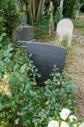 David Butler (screenwriter) - The grave of David Dalrymple Butler, Highgate Cemetery, London