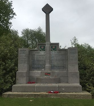 14th (Light) Division - Memorial to the 14th (Light) Division at Hill 60 (Ypres) in Belgium.