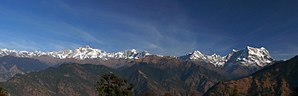 Deoria Tal - Image: Himalayan peak Kedarnath ,Chaukhamaba and others from Deoria Tal