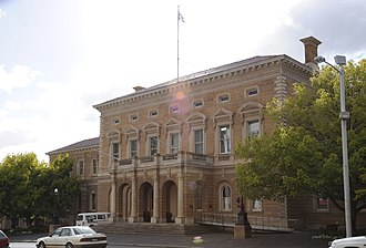Hobart Town Hall - Front facade.