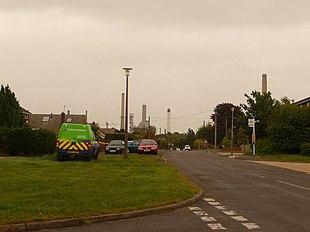 Holbury, looking towards Fawley refinery
