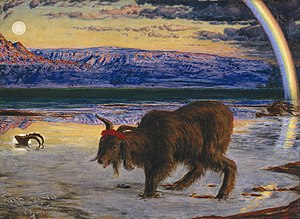The Scapegoat (painting) - Image: Holman Hunt Scapegoat (Manchester)