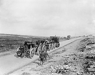 Holt tractor - A Holt tractor hauling a 9.2-inch howitzer to a forward area in The Battle of the Somme July–November 1916