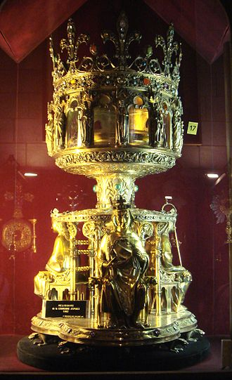 Baldwin II, Latin Emperor - The Holy Crown of Jesus Christ was bought by Louis IX from Baldwin II. It is preserved today in a 19th-century reliquary, in Notre-Dame Cathedral, Paris.