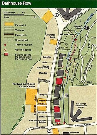 Bathhouse Row - Map of Bathhouse Row