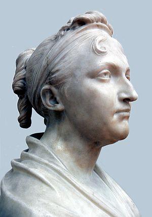 Dorothea von Rodde-Schlözer -  Marble Portrait bust of Dr. Dorothea von Rodde-Schlözer, by Jean-Antoine Houdon: Paris 1806