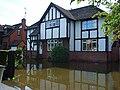 House in floods, Loddon Bridge Road, Woodley - geograph.org.uk - 504340.jpg