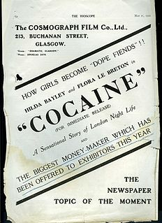<i>Cocaine</i> (film) 1922 film by Graham Cutts
