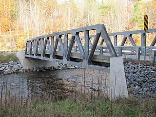 Iron Bridge at Howard Hill Road building in Vermont, United States
